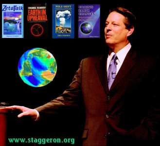 Al Gore warning of the dangers of the impending pole shift