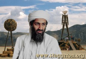 Osama Bin Laden sighted at Burning Man