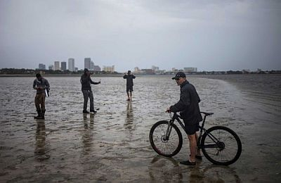 The force of Hurricane Irma turned Hillsborough Bay in Tampa into a mudflat.