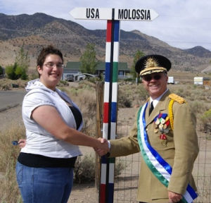 The original Republic of Molossia sign, which has since been upgraded