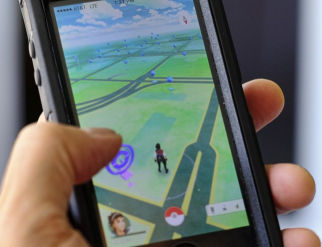 Pokemon Go is displayed on a cell phone
