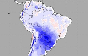 cold spell in South America