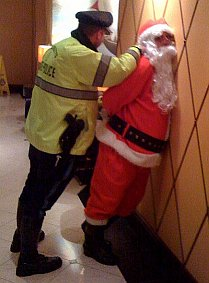 Santa gets busted