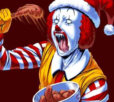 Ronald Mc Donald never eats at McDonalds