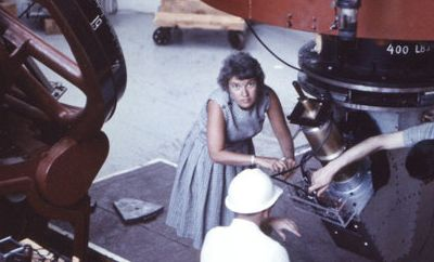 Vera Rubin works at the Lowell Observatory in Flagstaff, Ariz., in 1965