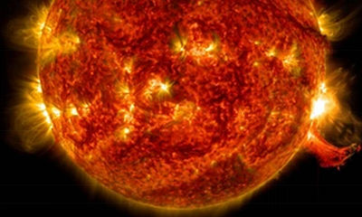 Nasa captured this image of a solar flare in 2014. The strongest recorded incident of coronal mass ejection dates back to 1859.