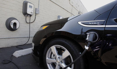 The 2013 Chevrolet Volt gets 40 miles on a full charge using a level 2 charger