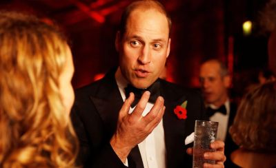 The Duke of Cambridge talks to supporters at a gala night for the conservation charity Tusk at The Roundhouse